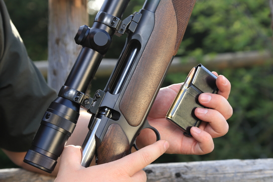 Loading a hunting rifle
